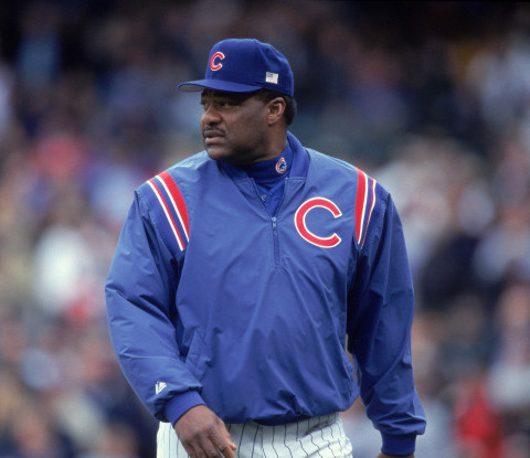 28 Sep 2001:  Manager Don Baylor of the Chicago Cubs walks on the field during the game against the Houston Astros at Wrigley Field in Chicago, Illinois. The Cubs defeated the Astros 6-2.